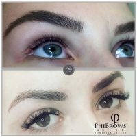Semi permanent liner and brows