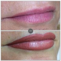 Semi permanent lip blush